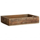 Tablett Holz Natur Bistro de Paris